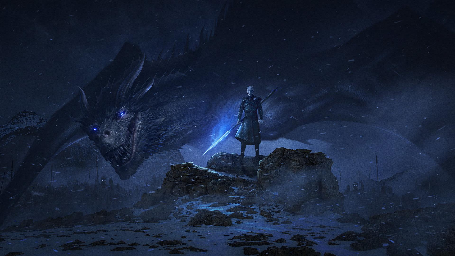 Dragon Night King Game Of Thrones Season 8 Hd Tv Shows 4k