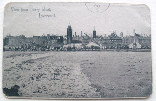 Liverpool from Ferry postcard posted 1908