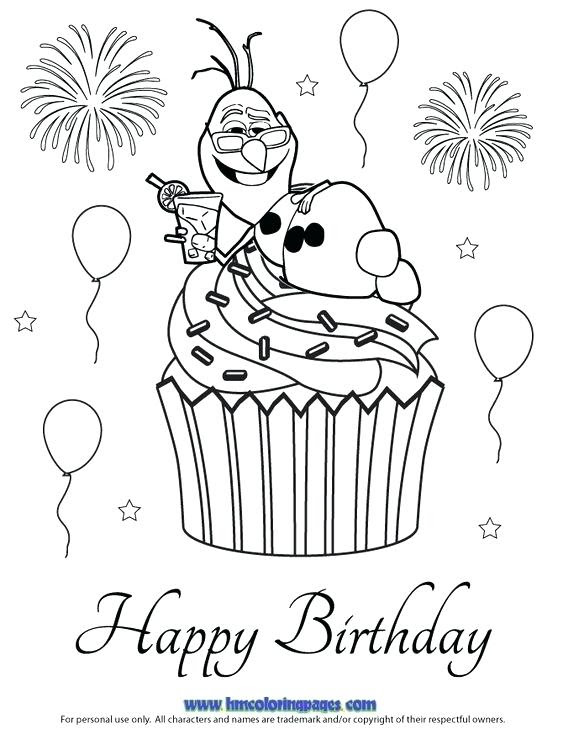 Frozen Happy Birthday Coloring Pages at GetDrawings | Free ...