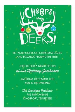 Cheers My Deers   Holiday Invitations by Invitation