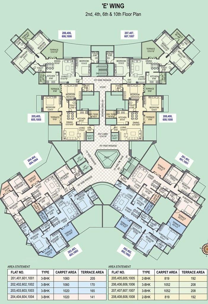 Paranjape Schemes' Gloria Grace Bavdhan Pune - E Wing - Even Floors