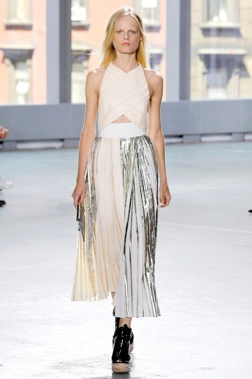 Le Fashion Blog Proenza Schouler On A Budget Metallic Pleated Dress SS 2014 photo Le-Fashion-Blog-Proenza-Schouler-On-A-Budget-Metallic-Pleated-Dress-SS-2014.jpg
