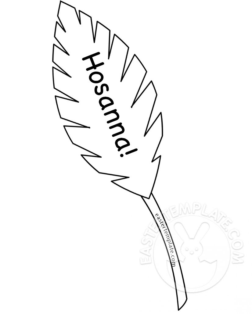 Hosanna Palm Leaf coloring page   Easter Template