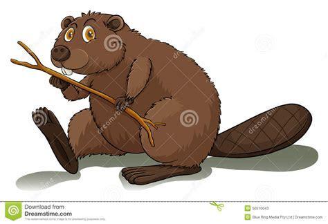 An Eager Beaver Stock Vector   Image: 50510043