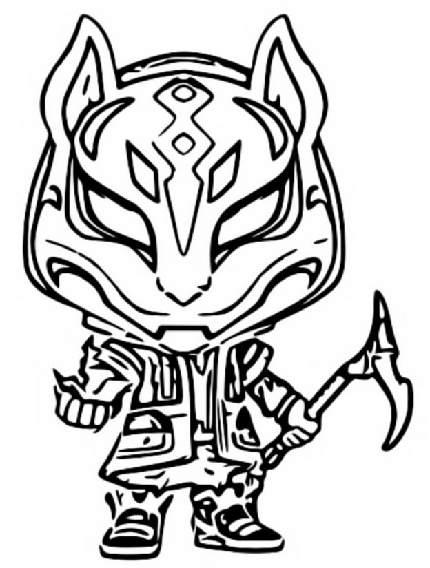 Dibujo Para Colorear Funko Pop Fortnite Drift 2