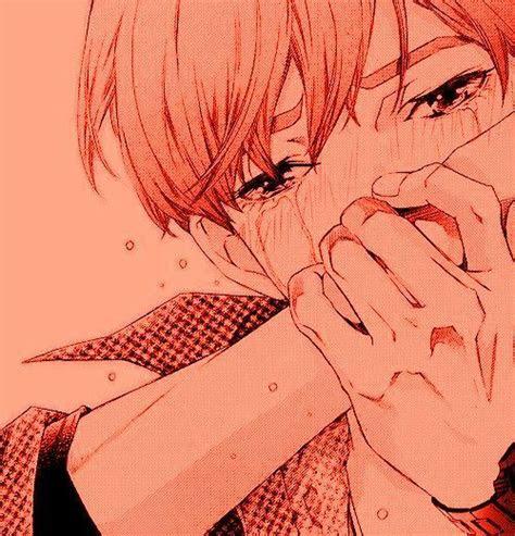 aesthetic anime art boy cry cute edit illustration