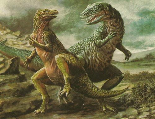 OLIVIER_1981_Iguanodon_Allosaurus