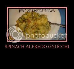 Spinach Alfredo Gnocchi