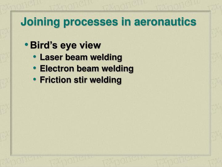 Welding.Com  » Articles welding processes for aeronautics