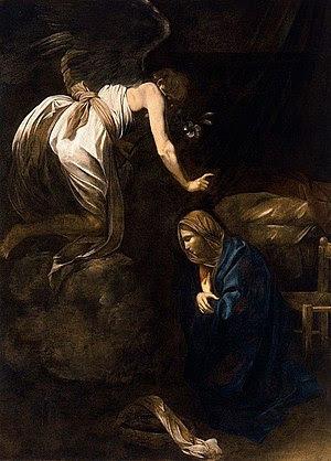 Annunciation by Caravaggio, 1608
