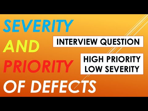 Severity and Priority of Defects.