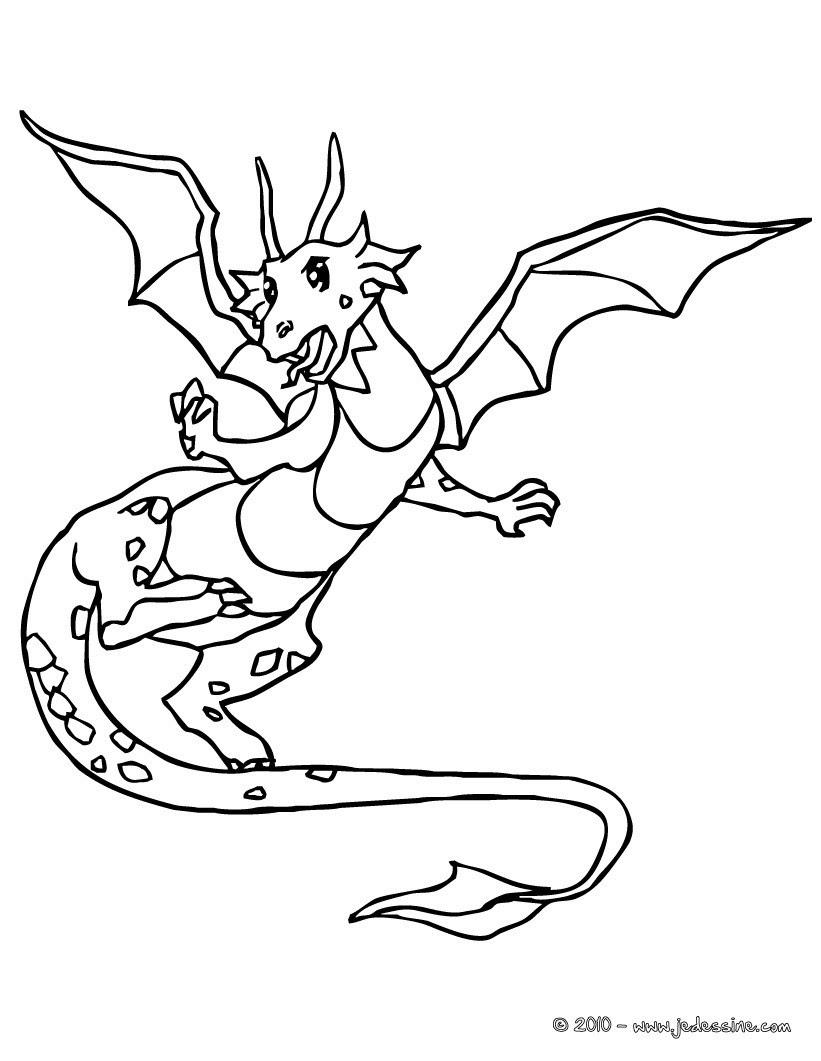 Le dragon attaque le ch¢teau coloriage grand dragon Coloriage Coloriage GRATUIT Coloriage PERSONNAGE IMAGINAIRE Coloriage CHEVALIERS ET