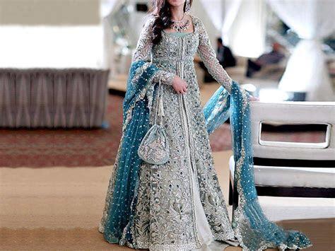 Designer Embroidered Chiffon Bridal Maxi Dress Price in