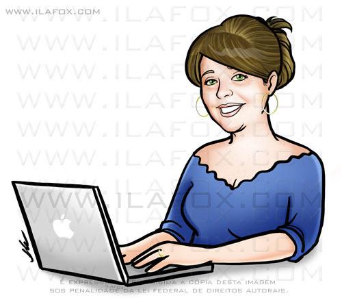 retrato personalizado, retrato mulher, retrato bonito, retrato no computador, by ila fox