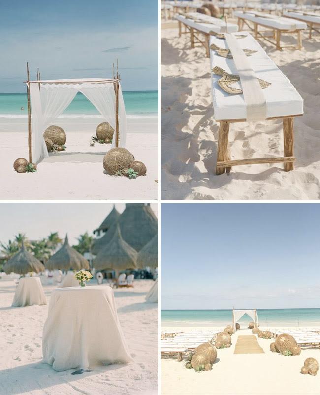 Desain Pernikahan Beach Wedding Decorations Diy