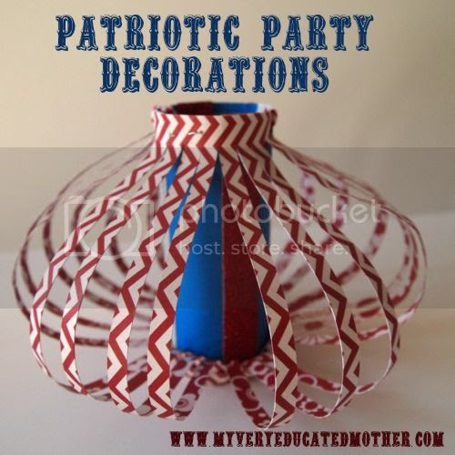 Patriotic Party Decorations! #patriotic #crafting #redwhiteandblue #4th of July