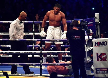 Anthony Joshua Knocks Out Wladimir Klitschko in 11th Round in Highly Anticipated Match (See Photos)