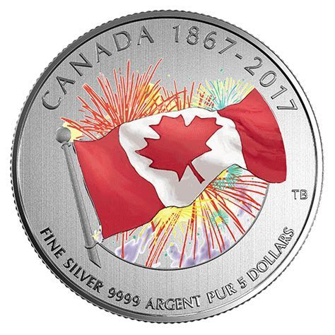 2017 Proudly Canadian   Pure Silver Glow in the Dark Coin