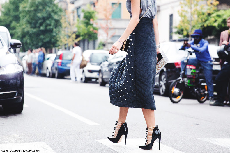 Milan_Fashion_Week_Spring_Summer_15-MFW-Street_Style-Midi_Skirt-Pearls-Bows_Sandals-