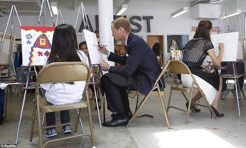 Royal snail  Kate races ahead with her painting at Inner-City Arts  campus whilst William is slow off the mark  11