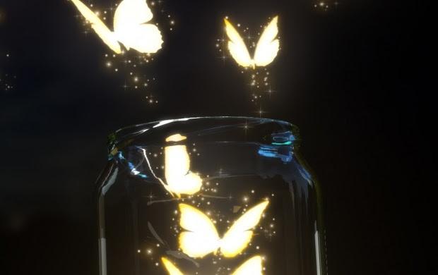 Glowing Butterflies wallpapers