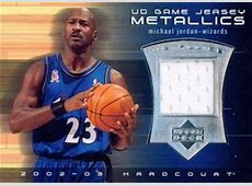 Top Michael Jordan Game Used Washington Wizards Cards