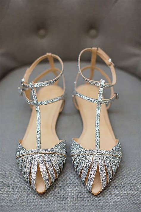adorable flat wedding shoes   emmalovesweddings