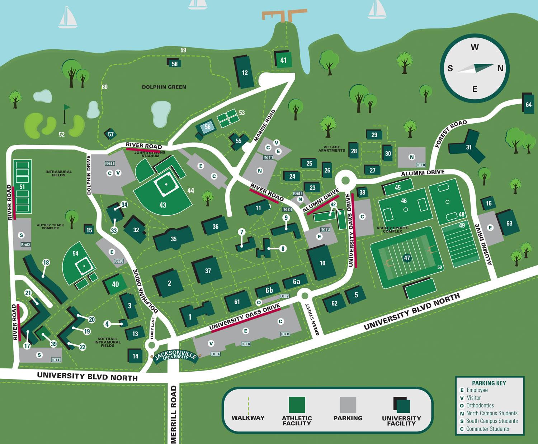 jacksonville university campus map Zip Code Map Jacksonville University Campus Map jacksonville university campus map