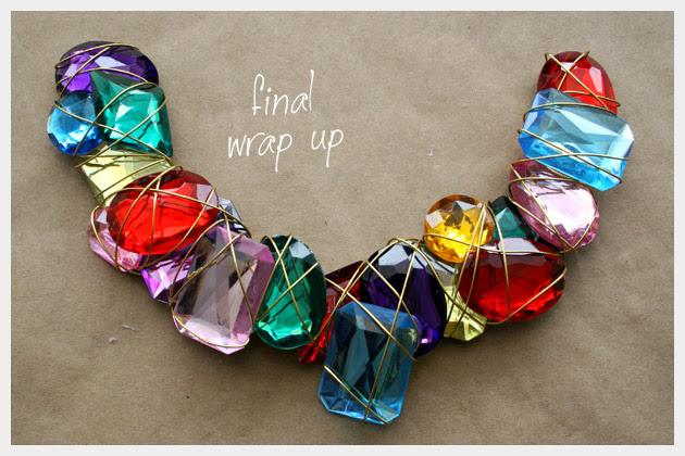 Alambre Envuelto Jewel Collar DIY