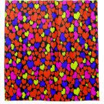 Bright Multicolored Hearts Shower Curtain