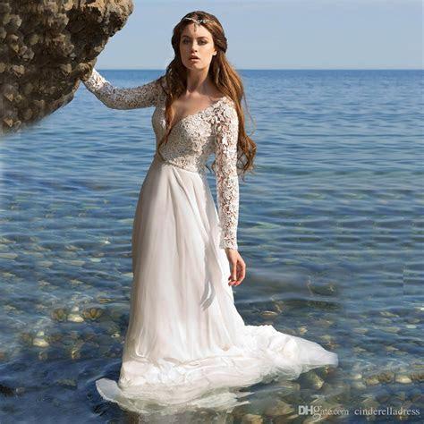 Discount Vestido De Noiva Simple Beach Wedding Dresses