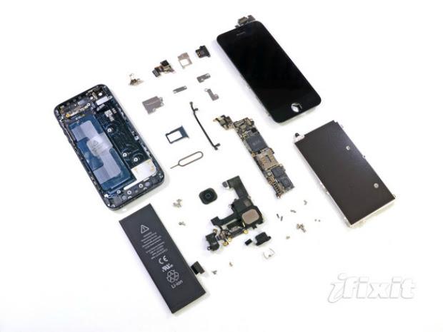 iPhone 5 foi todo desmontado pelo site iFixit (Foto: iFixit)