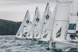 J/70 sailing Deutsche Segel-Bundesliga- starting line
