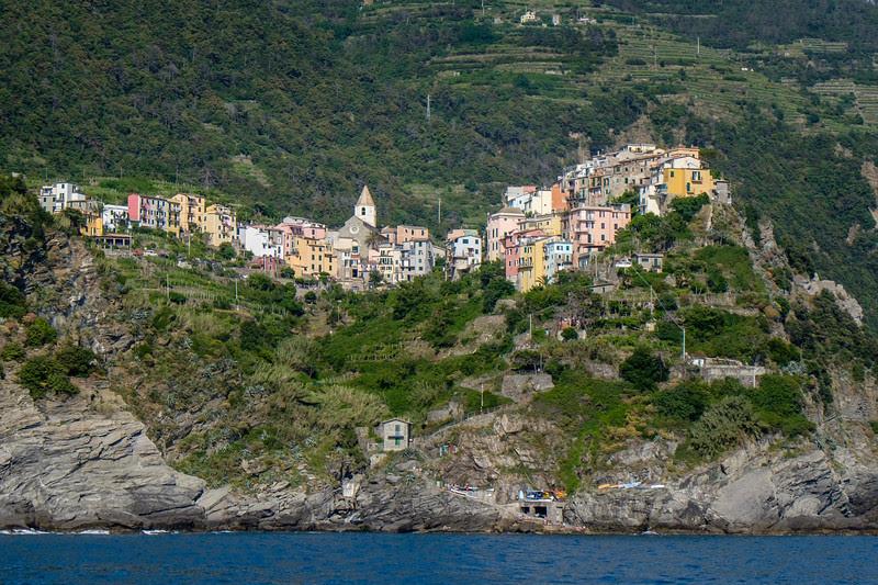 Corniglia from the sea