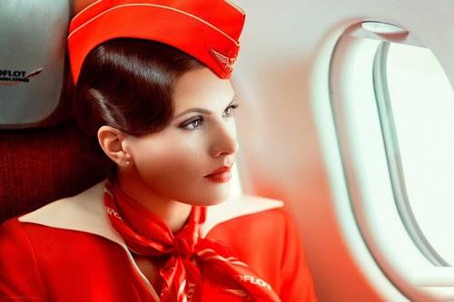 aeroflot air hostess