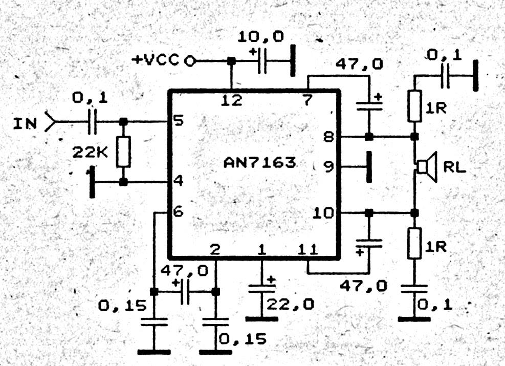 stk459 stereo amplifier circuit diagram