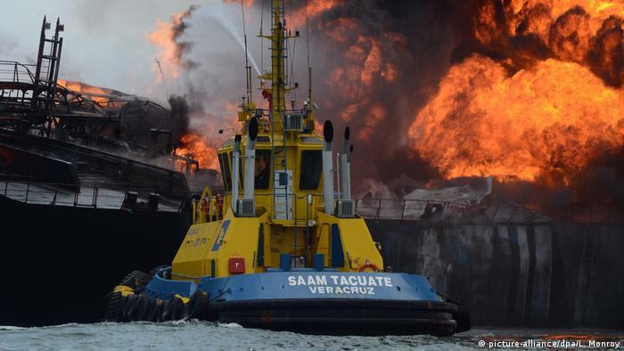 Mexiko Explosion Küste Veracruz