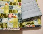 Blue Nature Baby/Child Quilted Blanket- 100 Percent Organic