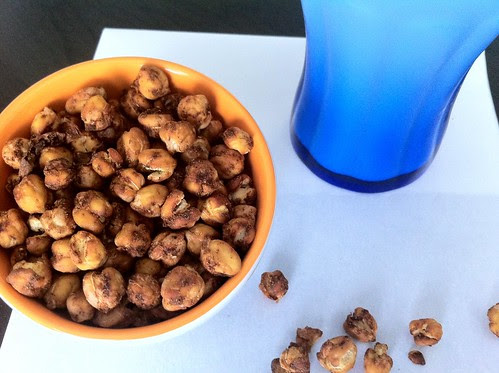 Spiced Roasted Chick Peas Closeup