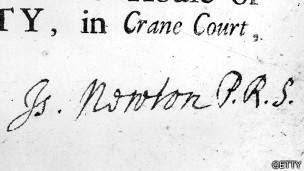 Firma de Newton