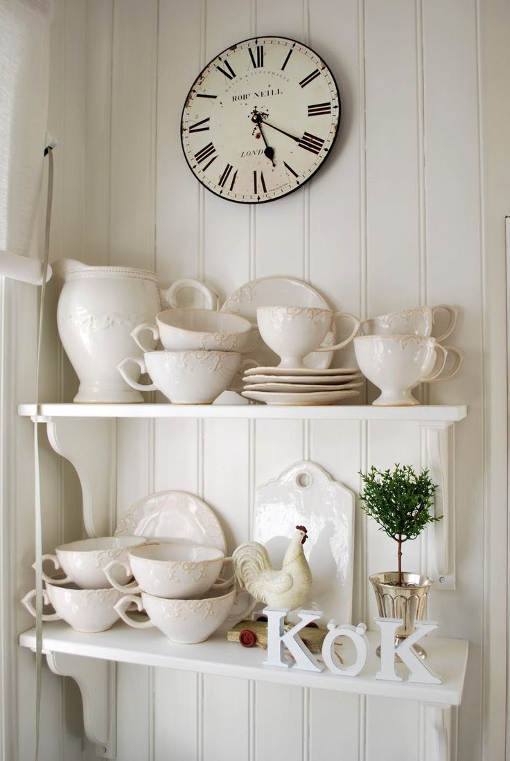 Kitchen, White, Grey, Black, Chippy, Shabby Chic, Whitewashed, Cottage, French Country, Rustic, Swedish decor Idea. ***Pinned by oldattic ***.