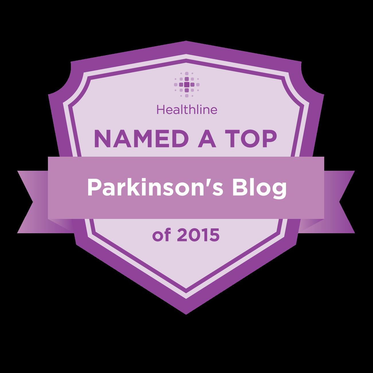 parkinsons best blogs badge