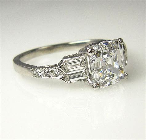 GIA Art Deco 2.53ct Antique Vintage Asscher Cut Diamond