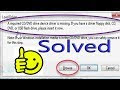 Windows 7 installation: A Required CD/DVD drive device driver is missing (Solved)