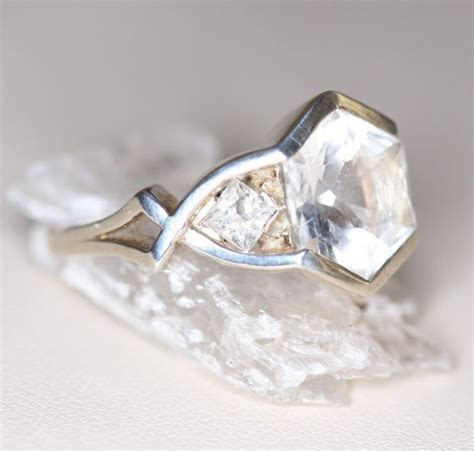 17 Best ideas about Hexagon Engagement Ring on Pinterest