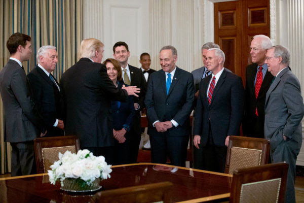 President Trump met with leaders of Congress from both parties on Monday at the White House. Credit Doug Mills/The New York Times