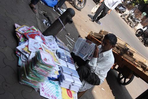 Reading Impotent News On The Streets ..Jai Ho Salman by firoze shakir photographerno1