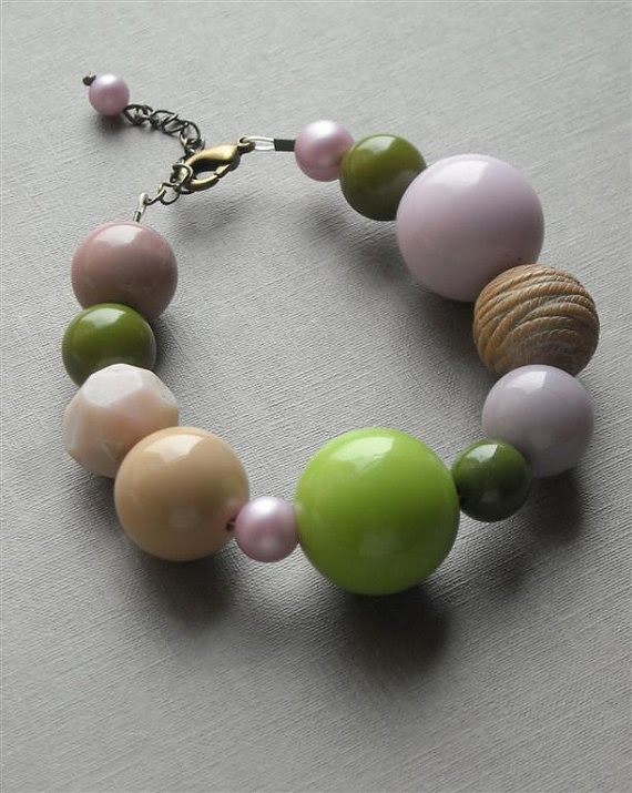 Artichoke Bracelet - love the soft colors!