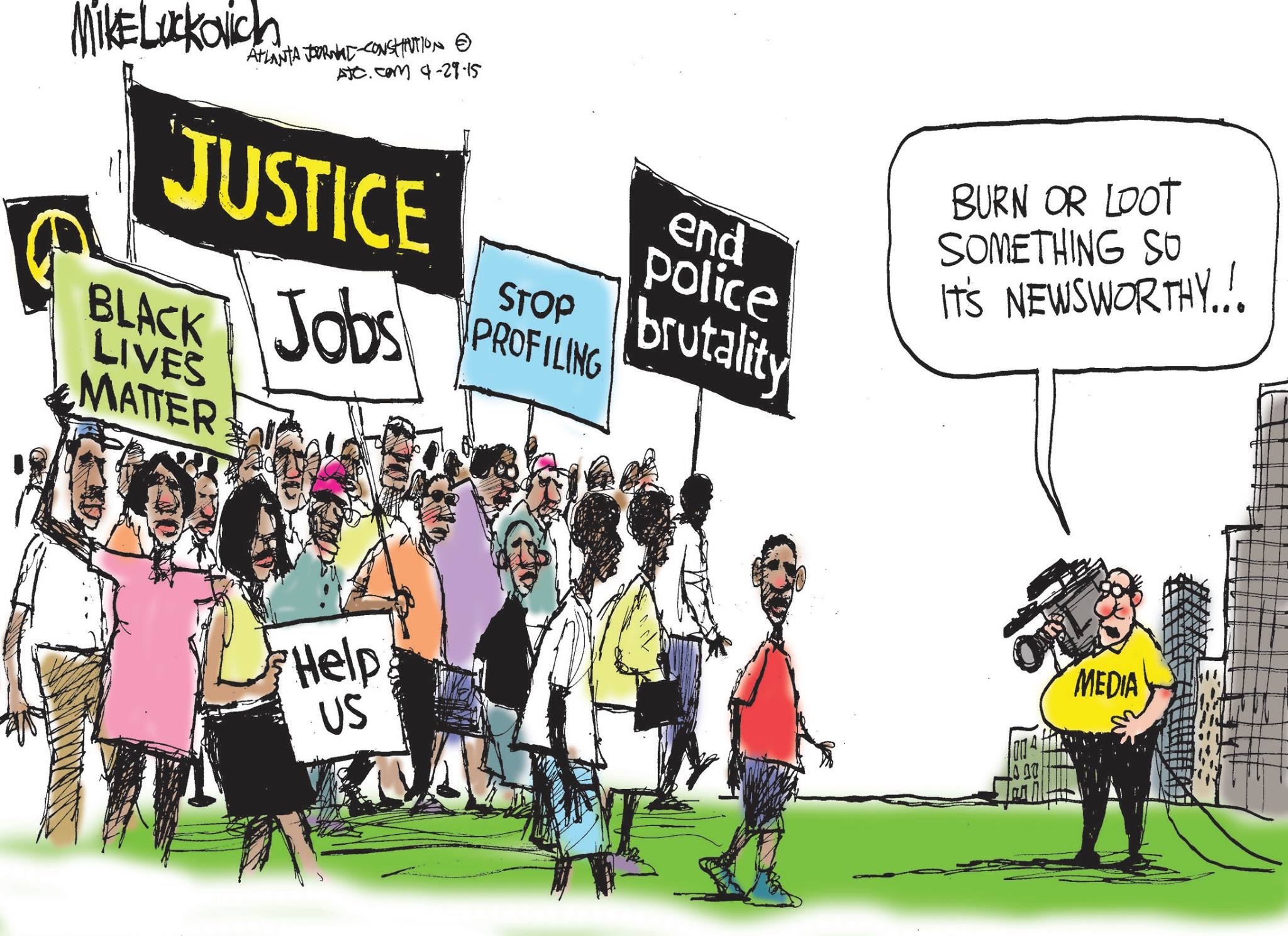 Image result for cartoons about black lives matter
