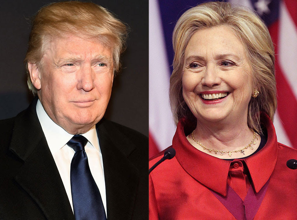 Image result for trump and clinton